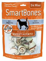 "SmartBones Sweet Potato Dog Chew, Mini 2.5"", 24 pack"