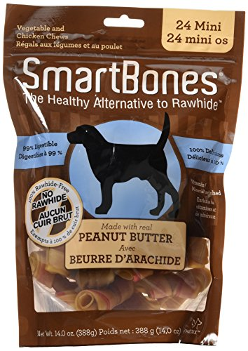 "SmartBones Peanut Butter Dog Chew, Mini 2.5"", 24 pack"