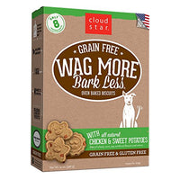 Cloud Star Wag More Oven Baked Grain Free Biscuits - Chicken & Sweet Potato, 14oz