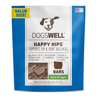 Dogswell Happy Hips Dog Treats, Chicken & Veggies, 28oz