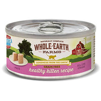 Whole Earth Farms Grain Free Healthy Kitten Cat Food, 24 Pack