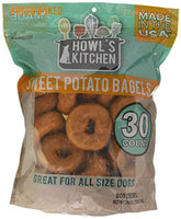 Howls Kitchen Sweet Potato Bagel Dog Treats 30ct.