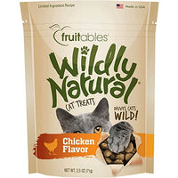 Fruitables Wildly Natural Chicken Flavor Cat Treats, 2.5oz.