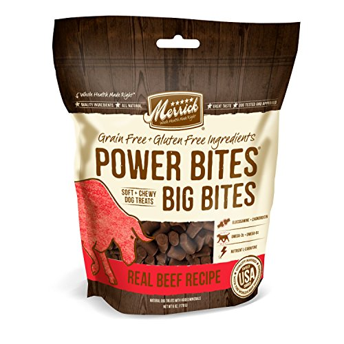 Merrick Power Bites Big Bites Grain Free Beef Dog Treats, 6oz