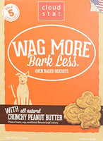 Cloud Star Wag More Bark LEss  Oven Baked Biscuits - 16oz, Peanut Butter