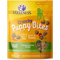 Wellness Crunchy Puppy Bites Chicken & Carrots Grain Free Puppy Training Treats