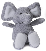 goDog Checkers Elephant Plush Dog Toy