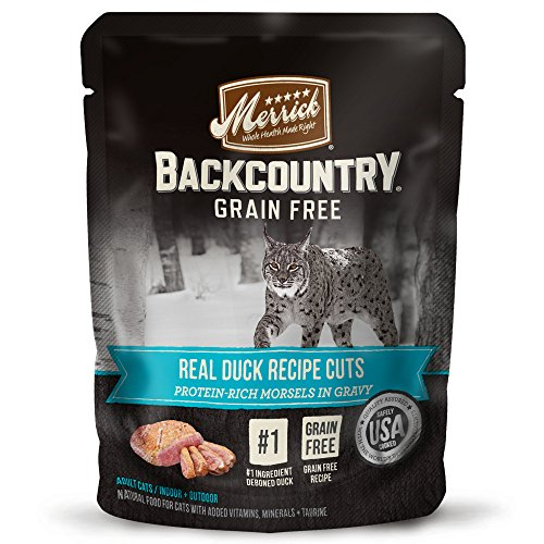 Merrick Backcountry Grain Free Real Duck Cat Food, 3oz, 24 Pack