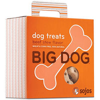 Sojos Big Dog Crunchy Natural Large Dog Treats, Beef Stew, 12-Ounce Bag