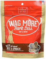Cloud Star Wag More Bark Less Original Chewy Beef Spinach Dog Treat 6oz