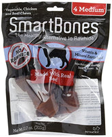 "SmartBones Beef Dog Chew, Medium 5.5"",  4 pack"