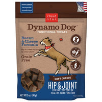 Cloud Star Dynamo Dog Functional Treats Hip & Joint - Bacon & Cheese, 5oz