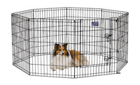 Midwest Pet Products - Black E-Coat Exercise Pen With Door