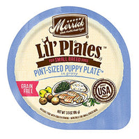 Merrick Lil' Plates Grain Free Pint-Sized Puppy Plate in Gravy Small Breed Puppy Food, 3.5oz. 12 Pack
