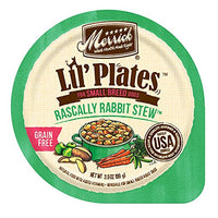 Merrick Lil' Plates Grain Free Rabbit Stew Small Breed Dog Food, 3.5oz. 12 Pack