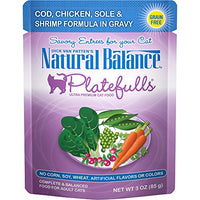 Natural Balance Platefulls Cod, Chicken, Sole and Shrimp Cat Food - 24 Pack
