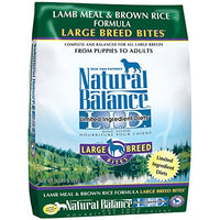 Natural Balance Large Breed Bites Limited Ingredient Lamb Meal & Brown Rice Dog Food