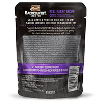 Merrick Backcountry Grain Free Real Rabbit Cat Food, 3oz. 24 Pack