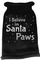 Mirage - Knit Santa Paws Christmas Dog Sweater - Black
