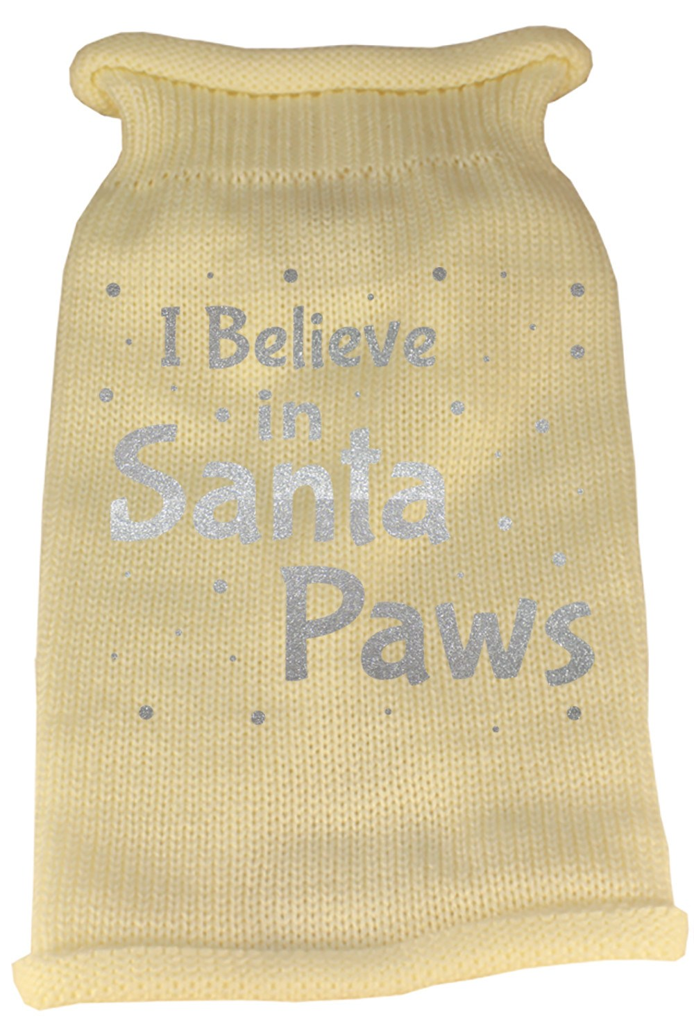 Mirage - Knit Santa Paws Christmas Dog Sweater - Cream
