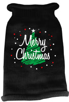 Mirage - Scribbled Merry Christmas Dog Sweater - Black