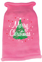 Mirage - Scribbled Merry Christmas Dog Sweater - Pink