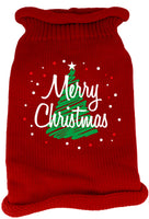 Mirage - Scribbled Merry Christmas Dog Sweater - Red