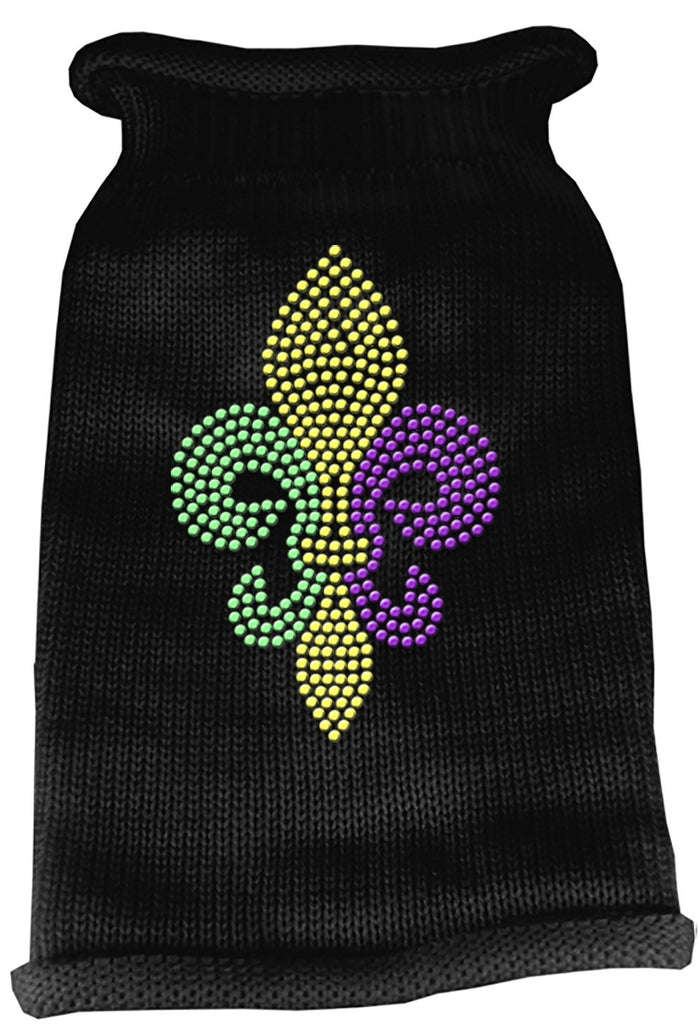 Black Fleur De Lis Dog Sweater