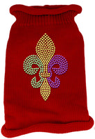 Red Fleur De Lis Dog Sweater