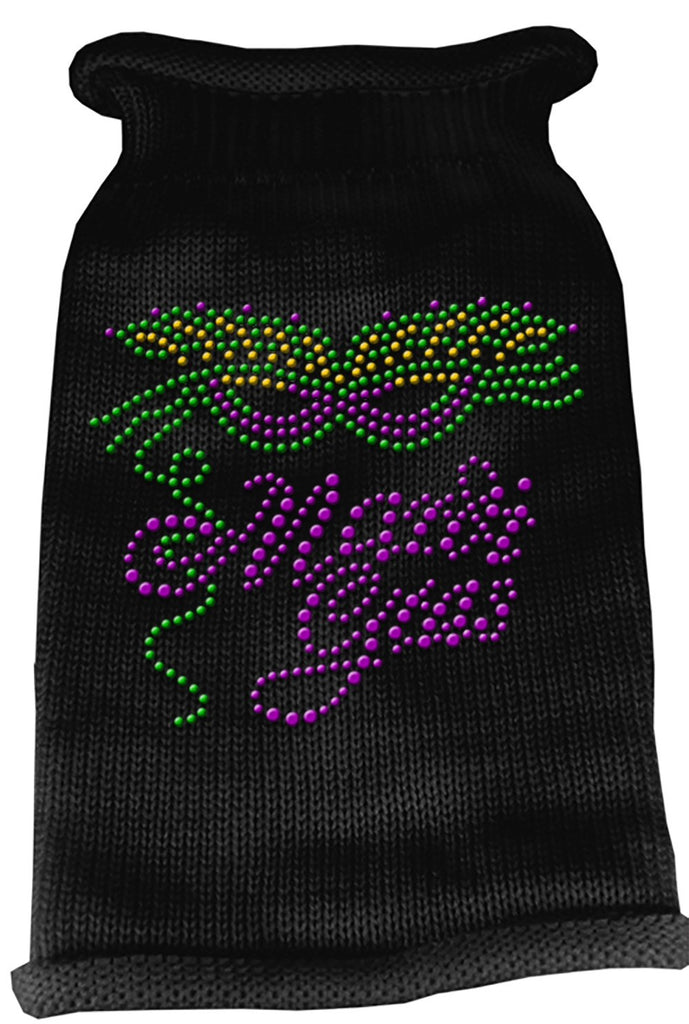 Black Mardi Gras Dog Sweater