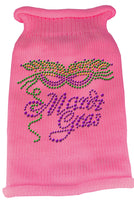 Pink Mardi Gras Dog Sweater