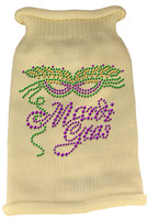 Cream Mardi Gras Dog Sweater