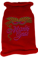 Red Mardi Gras Dog Sweater