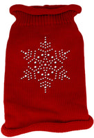 Mirage - Snowflake Knit Christmas Dog Sweater - Red