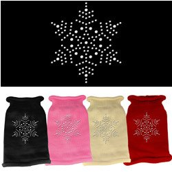 Mirage - Snowflake Rhinestone Knit Dog Sweater