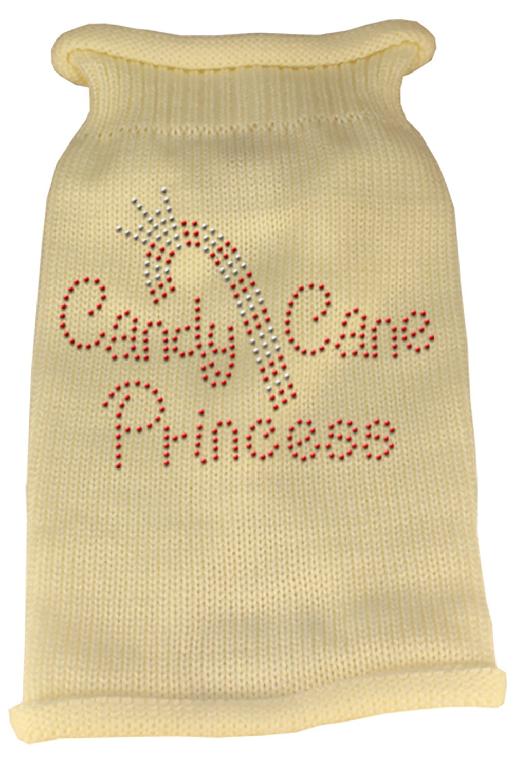 Mirage - Candy Cane Knit Pet Sweater - Cream