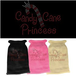Mirage - Candy Cane Princess Rhinestone Knit Pet Sweaters