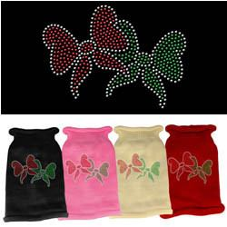 Mirage - Christmas Bows Rhinestone Knit Pet Sweaters