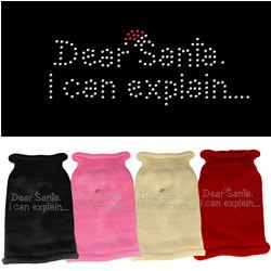 Mirage - Dear Santa Rhinestone Knit Sweaters
