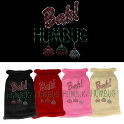 Mirage - Bah Humbug Rhinestone Knit Pet Sweaters