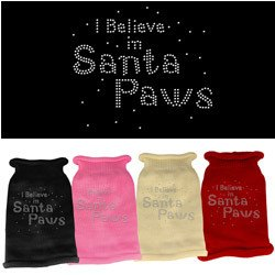 Mirage - I Believe In Santa Paws Rhinestone Knit Dog Sweater
