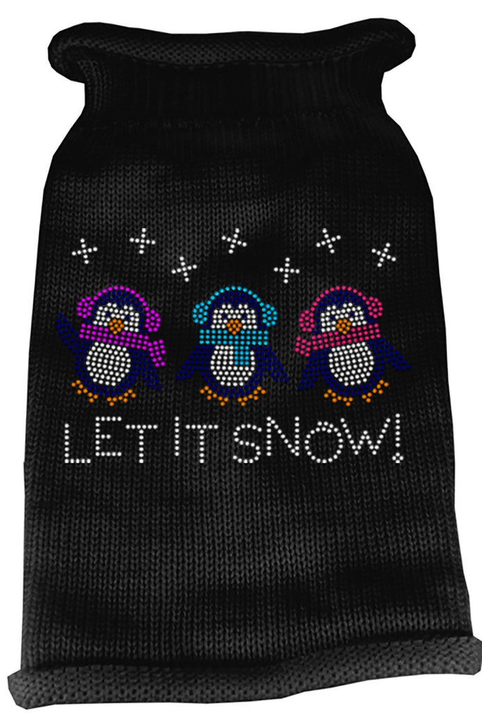 Mirage - Let It Snow Christmas Dog Sweater - Black