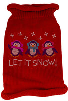Mirage - Let It Snow Christmas Dog Sweater - Red
