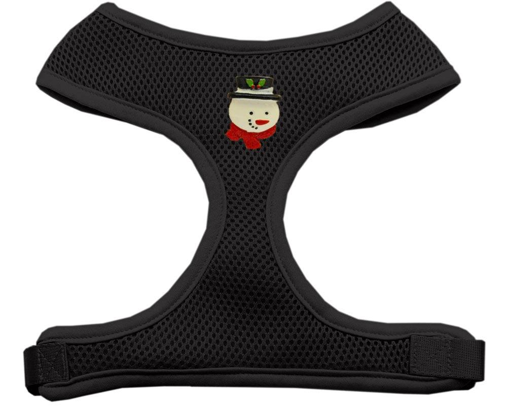 Mirage - Frosty Soft Mesh Chistmas Dog Harness - Black