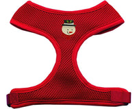 Mirage - Frosty Soft Mesh Chistmas Dog Harness - Red