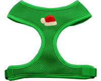 Mirage - Santa Hat Chipper Christmas Dog Harness - Emerald Green