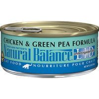 Natural Balance Limited Ingredient Chicken & Green Pea Cat Food, 24 Pack