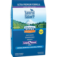 Natural Balance Original Ultra Chicken, Brown Rice, Duck Meal Large Breed Dog Food