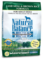 Natural Balance Limited Ingredient Lamb Meal & Brown Rice Dog Food