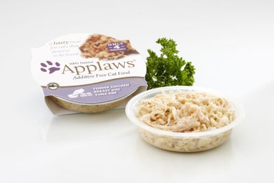 Applaws Tender Chicken Breast with Tuna Roe in Broth Wet Cat Food 18 Pack